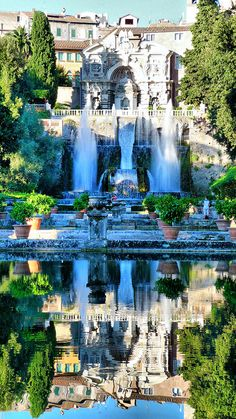 places in italy, villa d'este, travel europe, rome italy, italy mansion
