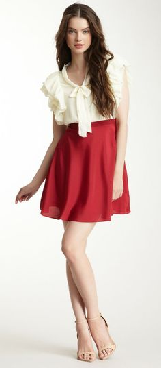 Freeway Ruffle Sleeve Dress