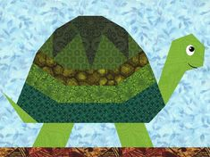 Turtle Paper Pieced Quilt Block
