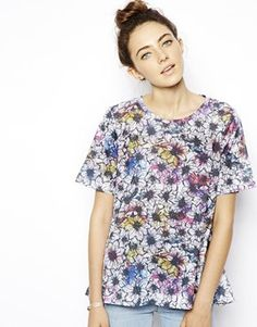 ASOS Swing Top with Floral Print