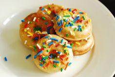 Mini Baked Glazed Doughnuts