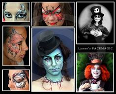 Scary Halloween Face Painting