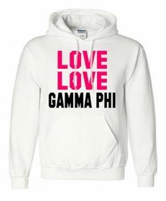 Gamma Phi Beta Love Love Hooded Sweatshirt