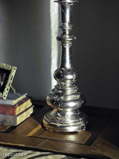 Crackle Metal Finish Lamp Base Tutorial