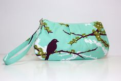Sweet Pea Zip and Go Wristlet / AVIARY 2 by Joel by SweetPeaTotes, $26.00