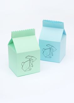 Origami bunny treat box