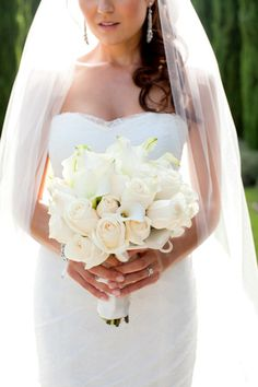 Probably the most perfect all white bouquet ever!