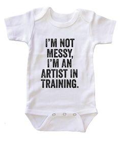 """""""I'm an Artist in Training"""" Baby Onesie"""