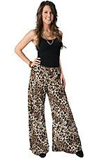 Karlie® Women's Leopard Print Wide Leg Pants