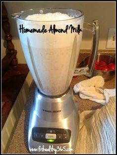 How to Make Homemade Almond Milk {recipe} #healthy #diy