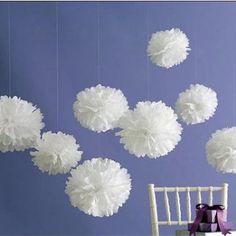 Martha Stewart Medium White Pom Poms