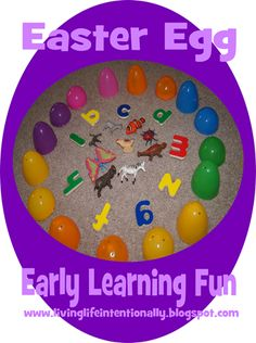 Easter Egg Early Learning Fun - what a fun idea & easy to do too!