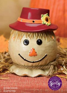 #Scentsy October 2013 Warmer of the Month! 10% off this month only!It's adorable brick-red hat conceals the warmer dish and is removable :)