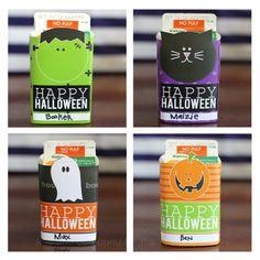 Printable Halloween Juice Box Covers {free printable}