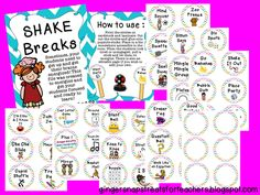 Ginger Snaps: Shake Breaks for the classroom - brain energizers to get your students up and moving!