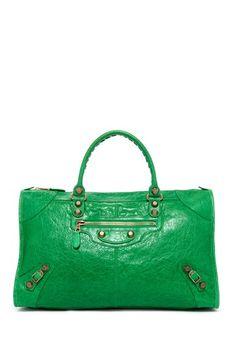 Gorgeous Green Satchel