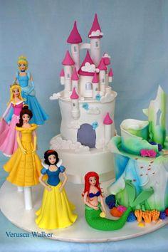 Princess cake by Verusca Walker Castles are based on Debbie Brown's book