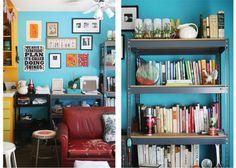 Blue walls.