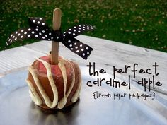 The perfect caramel apple