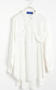 White Long Sleeve Letters Print Batwing Shirt