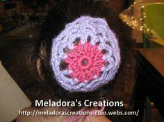 Crocheted Hair Bun Cover - Meladora's Creations Free Crochet Patterns & Tutorials