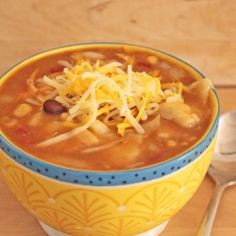 Slow Cooker Easy Taco Soup by littlekitchenbigbite