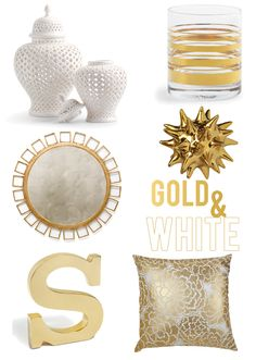 Get the Look: White & Gold Decor