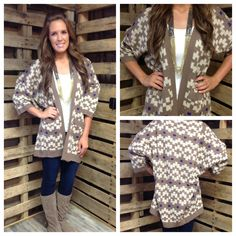 Oversized sweater cardigan $44.95  Deep South Pout