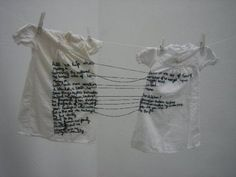 """Aya Haidar, """"The Stitch is Lost Unless the Thread is Knotted,"""" 2008"""