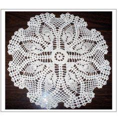 Shell Edge Pineapple Doily free pattern, pineappl doili, crochet doilies, doili free, shell edg
