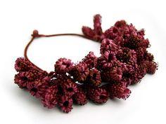 Paper Jewelry by Ana Hagopian. Necklaces - raspberry