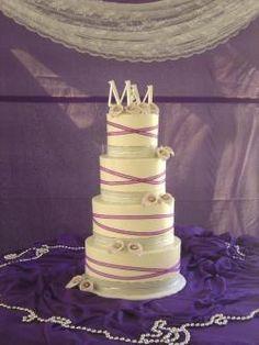 purple  silver wedding cake   Look around!