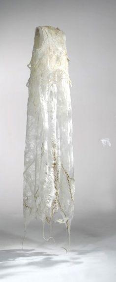 'Second Skin' by Agostina Zwilling(materials: tussah silk top, ramie top, hemp, flax, organic merino wool top)