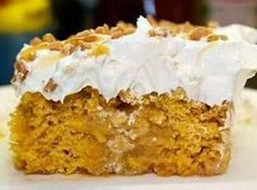Pumpkin Better Than S*x Cake - Uses pkg mix but add other ingredients, too.  Sounds moist and great for company or a potluck!