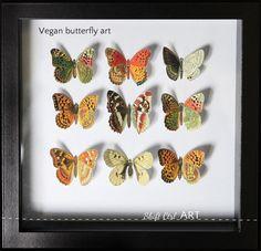 Vegan butterfly framed art - Mother's day DIY idea - including printable