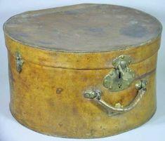 19th century leather hat box