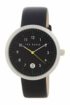 Round Dial Leather Strap Watch / by Ted Baker