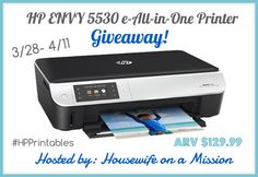 HP ENVY 5530 e-All-in-One Printer {Review   a Giveaway}