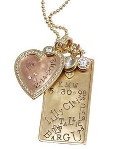 Dream ID Tag Necklace. Heather Moore.