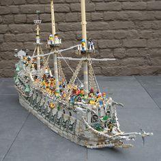 fli dutchman, flickr, lego fli, lego boat, lego celebr, legos, 1000 support, celebr 1000, lego ship