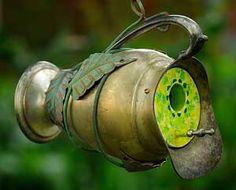 garden art, pitcher birdhous