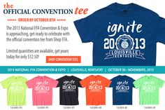 The official tee of the 86th National FFA Convention & Expo http://shop.ffa.org/2013-national-convention-official-t-shirt-c1656.aspx