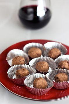 Dark Chocolate Red Wine Truffles - Gluten-Free + Vegan by Tasty Yummies