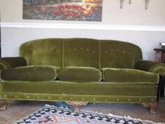 Amazing VINTAGE MOHAIR green couch/ sofa, excellent condition - $600 (Camarillo)