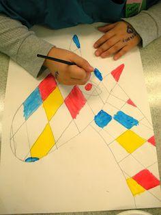 South Hills Elementary Art: Mondrian Animals (2nd, 3rd & 4th Grades)