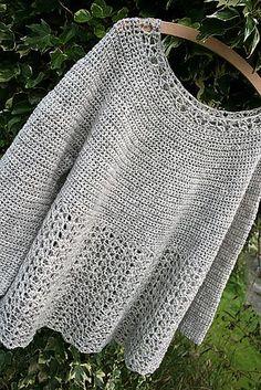 Ravelry: Bellflower hook, fun craft, ravelri pattern, cloth, crochet poncho, crochet sweaters, knit, crochet patterns, bellflow
