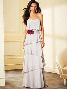 Alfred Angelo Bridesmaid Style 7266L in Moonlight Waltz/Berry