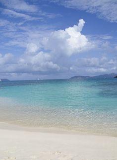 Hawksnest Beach on St. John in the US Virgin Islands.
