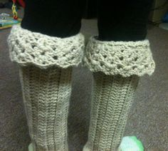 Lace Boot Cuffs / Leg Warmers crochet pattern by CrimsonCrochet
