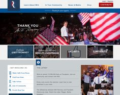 Mitt Romney post election day site homepage